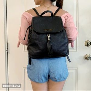 •Michael Kors• Black Backpack
